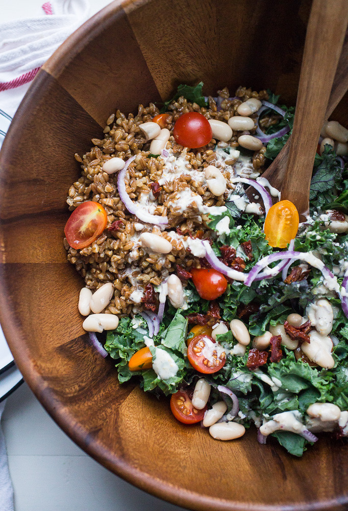 Kale, White Bean and Farro Salad