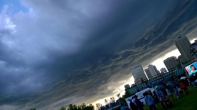 Dark Edmonton Sky