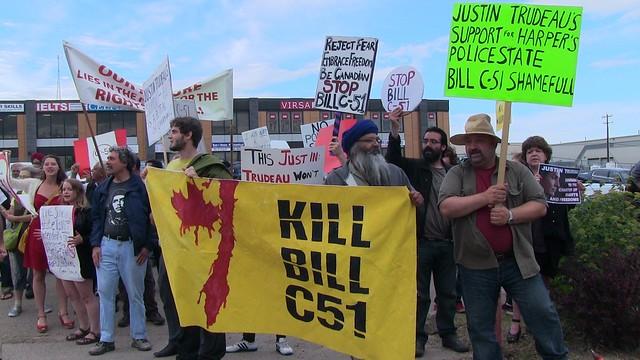 Bill C-51 Protest At Justin Trudeau Event