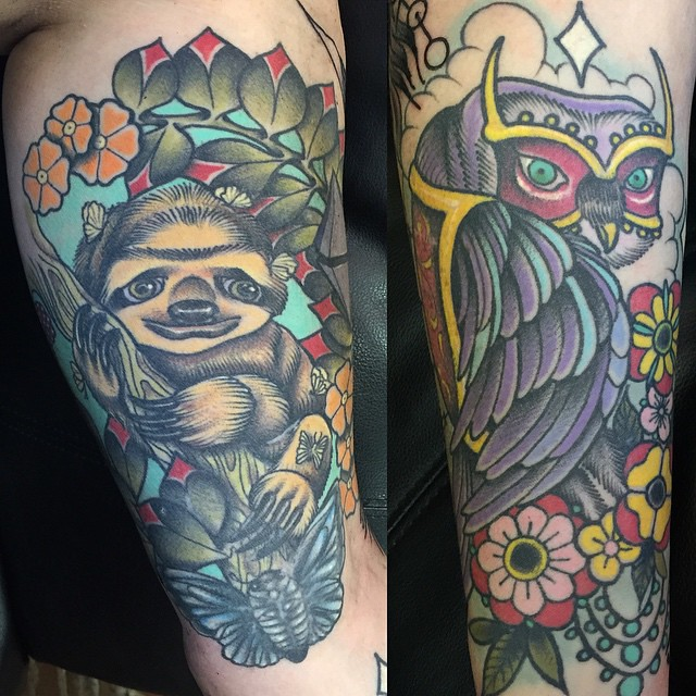 Healed tattoos i did two years on my sister in law dreama for Sister in law tattoos