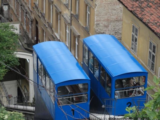 Innerstädtische Seilbahn von der Unterstadt in die Oberstadt