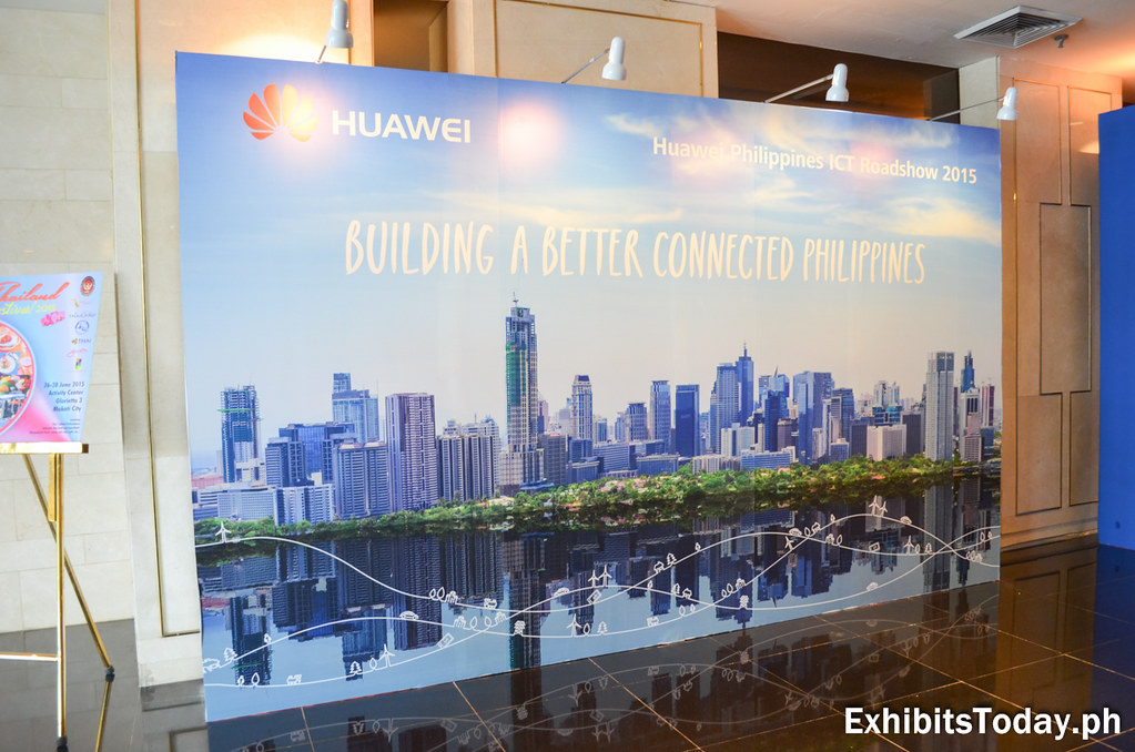 Huawei Philippines ICT Roadshow 2015 Welcome Wall Panel