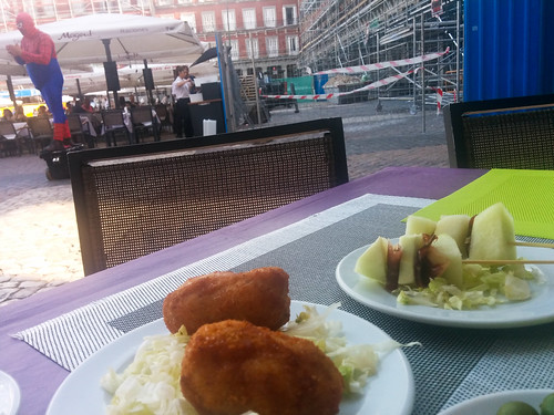 Tapas (and Spiderman) on Plaza Mayor