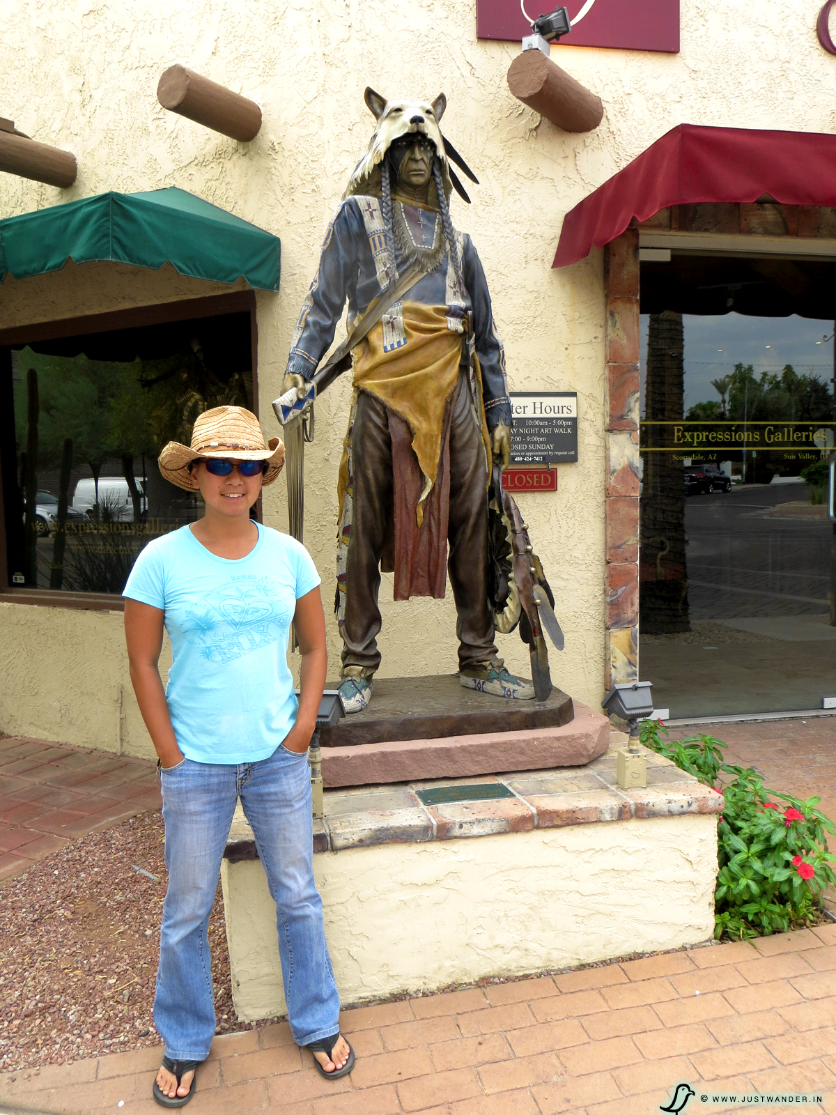 PIC: Old Town Scottsdale Arizona - Native American Statue