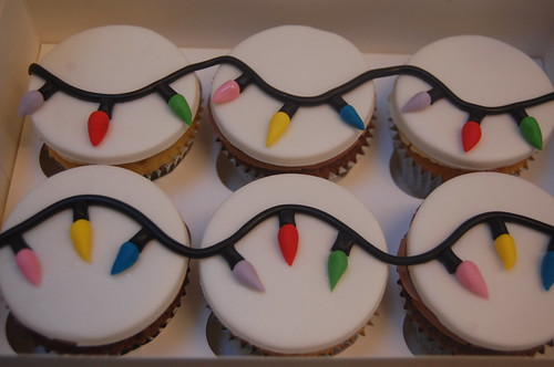 These were our teacher thank you gifts this Christmas. So simple but so effective. The Fairy Light Cupcakes - from £2 each.