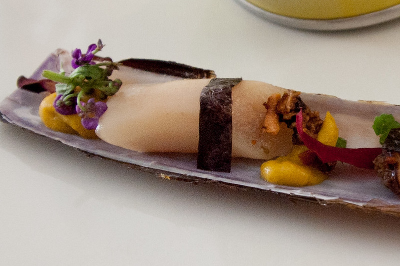 Razor clams and pumpkin, restaurante ARZAK