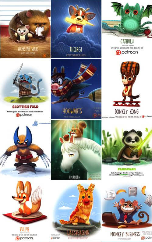 PIPER THIBODEAU – amazing graphics with animals