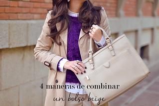 4 maneras de combinar un bolso beige