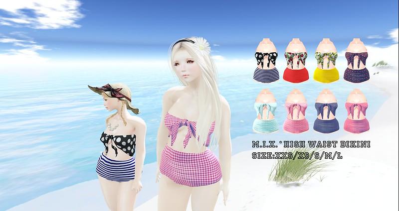 M.I.X.*high waist bikini NEW!