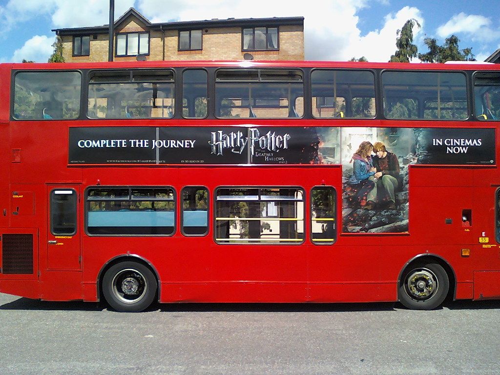 "arriva tfl route 317 - vlw120 - "" harry potter and the dea… 