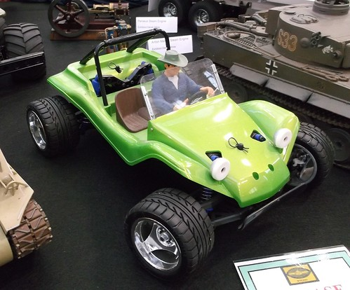 Green beach buggy