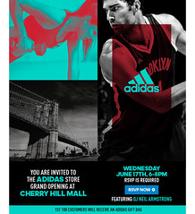 6/17 - Wed - Join us at the Cherry Hill Mall In New Jersey for the opening of the new adidas store