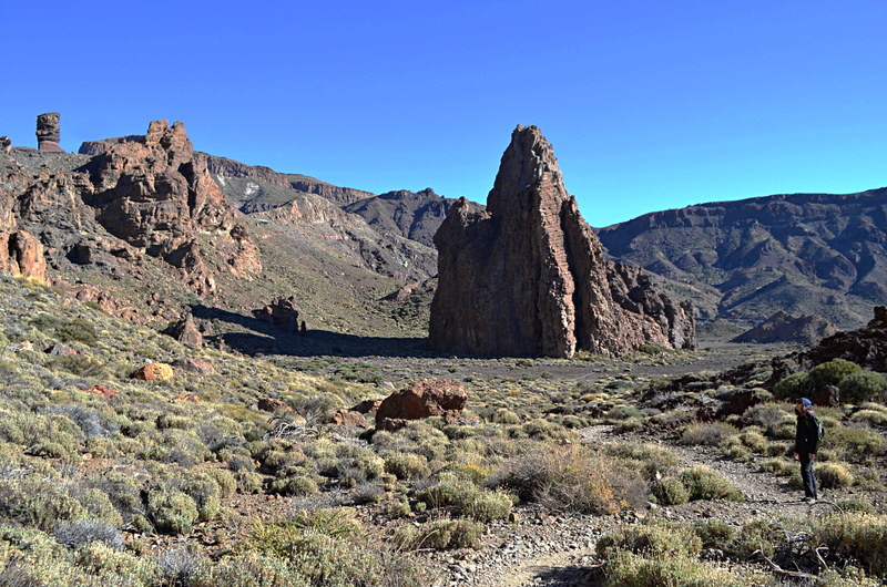 Walking near the Parador, Teide National Park, Tenerife