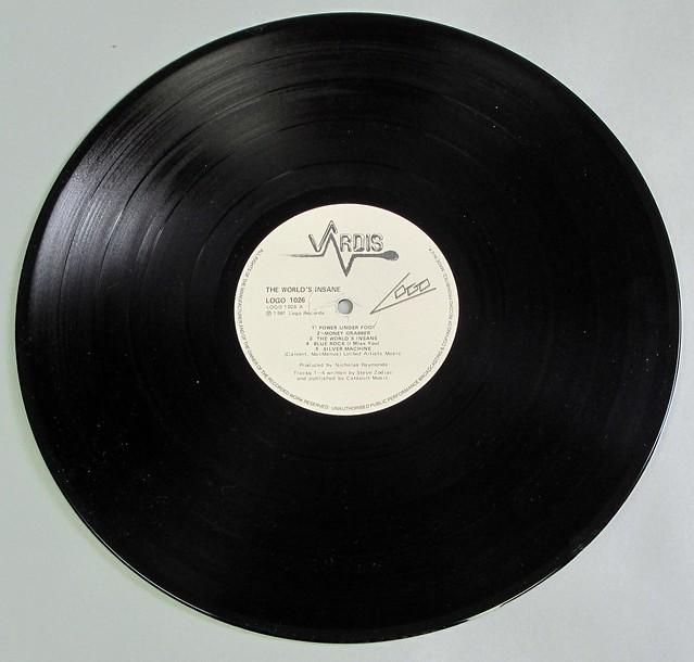 "VARDIS THE WORLD'S INSANE NWOBHM 12"" LP VINYL"