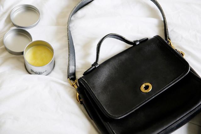 vintage leather bag restore