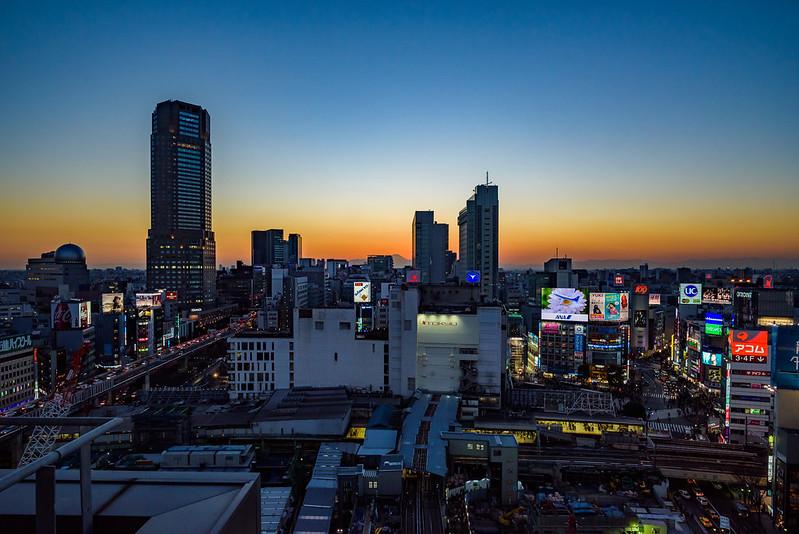 Sunset in Shibuya,TOKYO,2017