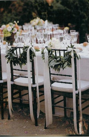 chair backs | by Wedding or Party Decorations