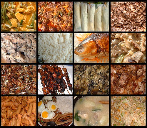 Pinoy Food Poster Ulam Entrees Top L R Kare Kare