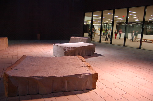 Andy Goldsworthy's work  at the De Young at night | by Steve Rhodes