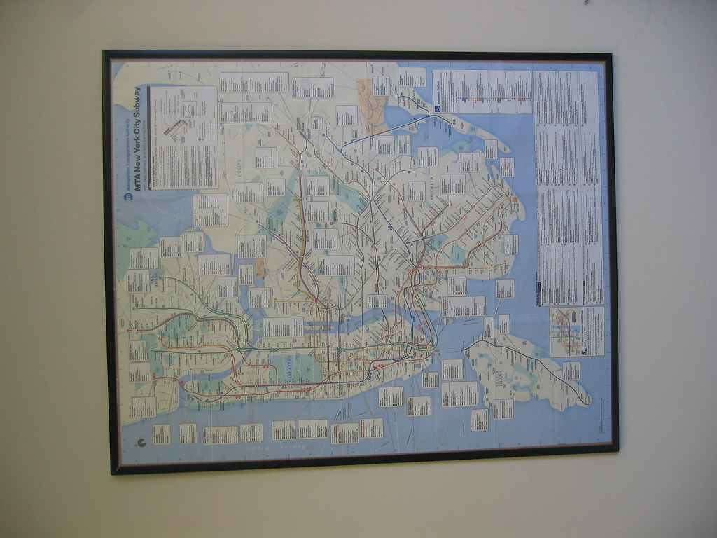 Cash And Go >> NYC Subway Map | Acquired July, 2001. I drove across the ...