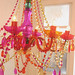 my aunt's new fantastic (plastic !) chandelier