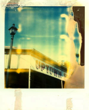 uptown polaroid facade of abandoned uptown sports