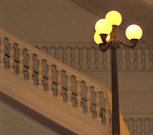 Stairs with globe lights | by ~My aim is true~