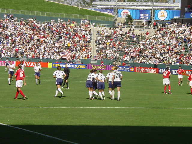 USA Women Celebrate a Goal at 2003 FIFA World Cup