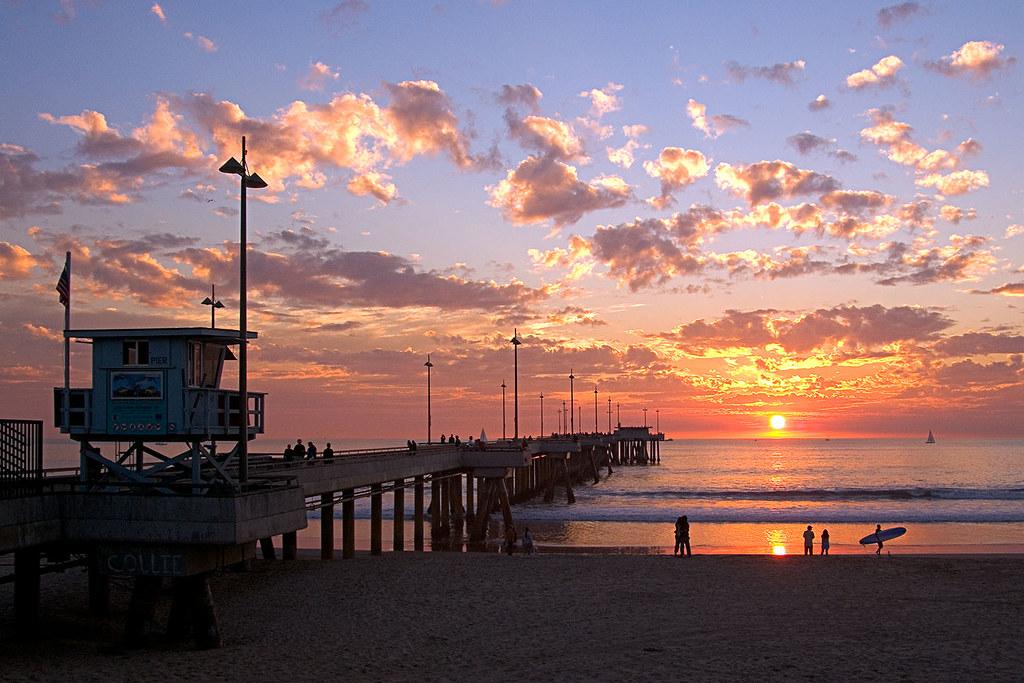 Sunset. Venice Beach, Ca. 2005.