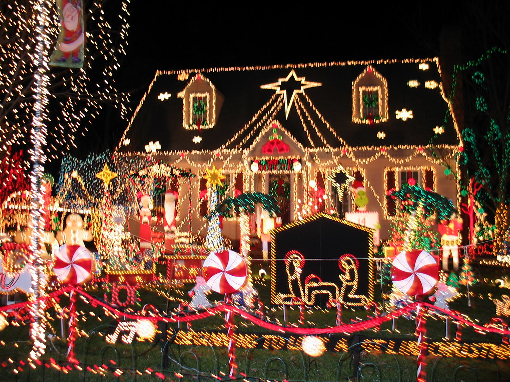 Christmas Lights On House