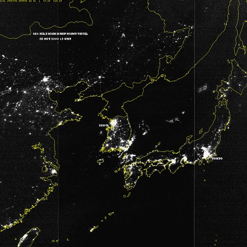 North south korea at night from epodraarchiveep flickr north south korea at night by lynetter gumiabroncs Image collections