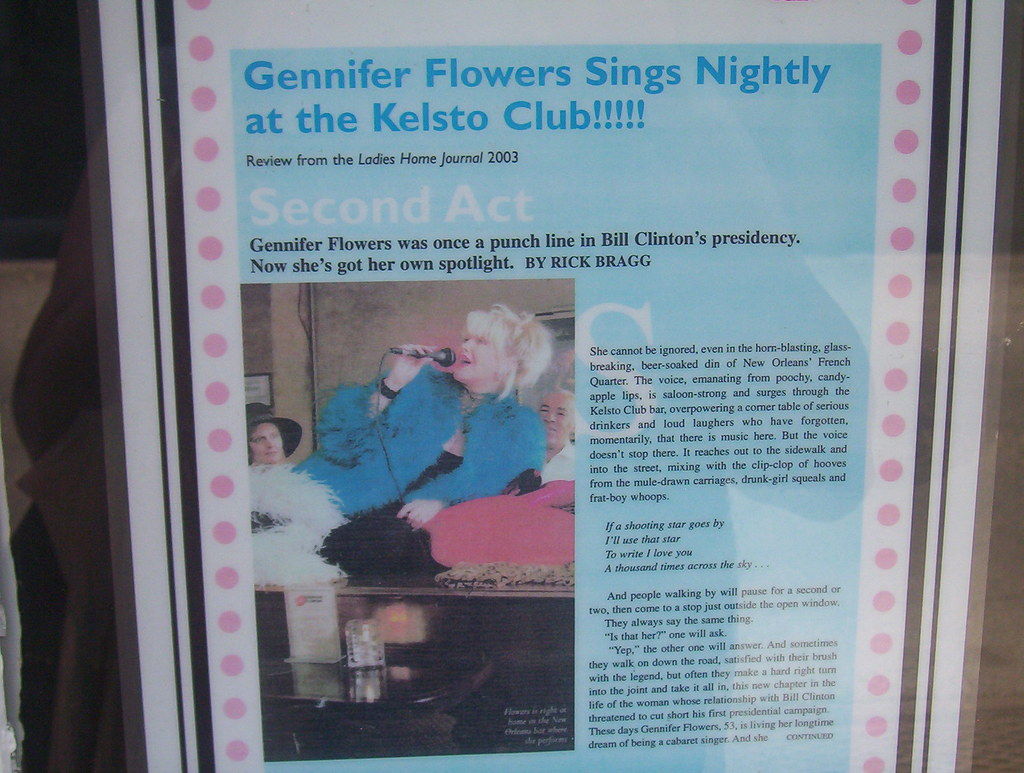 Gennifer Flowers club in New Orleans Chad Woolley