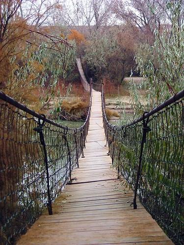 Plan A Road Trip >> Suspension footbridge near Bluff, Utah | 1k-5397fh (chg to 1… | Flickr