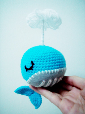 Amigurumi Whale : amigurumi splish splash baby whale 02 i made this for an ...