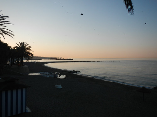 Marbella, Spain at sunset