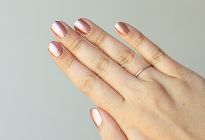 beauty: a review of Model's Own Chrome collection rose gold nail polish