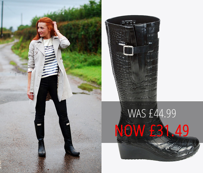 Summer sales picks | Wedge Welly black boots
