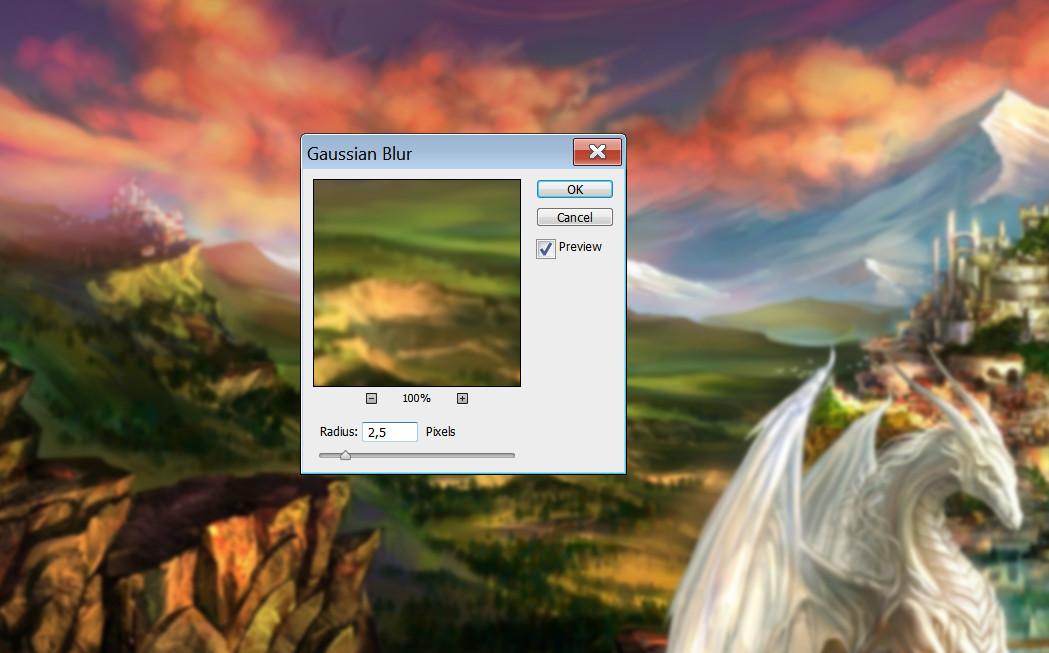 Как сделать размытый фон в Фотошопе