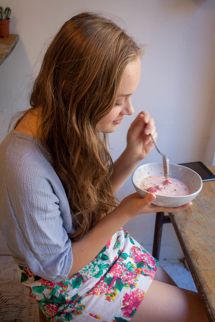 Summer Berry Smoothie Bowl at 26 Grains, London