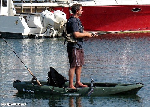 Stealth-9 Green Fishing Kayak | by malibukayaksinc
