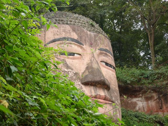 Cabeza del Gran Buda de Leshan (Sichuan, China)