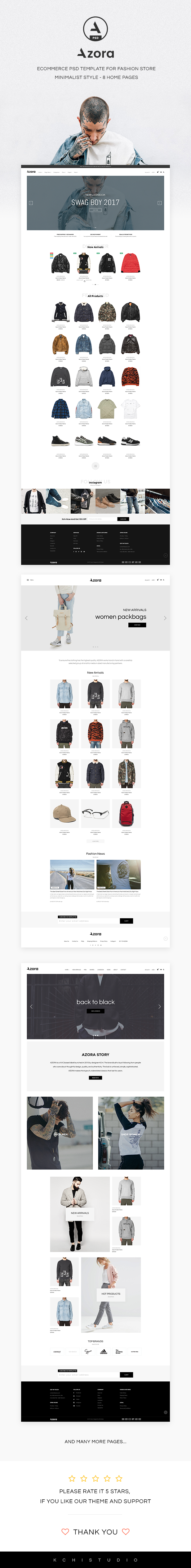 Azora - Ecommerce PSD Template For Fashion Store - 1