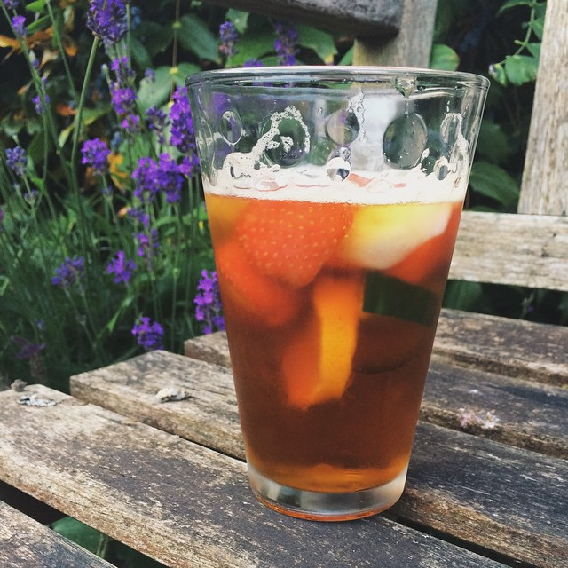 My Dad made me a mean Pimms yesterday. Definitely got nearly all of my five a day in that glass! I feel it is Pimms season now, bring on more barbecues (without the rain this time), beer gardens and sitting in the sunshine with a cold glass of something t