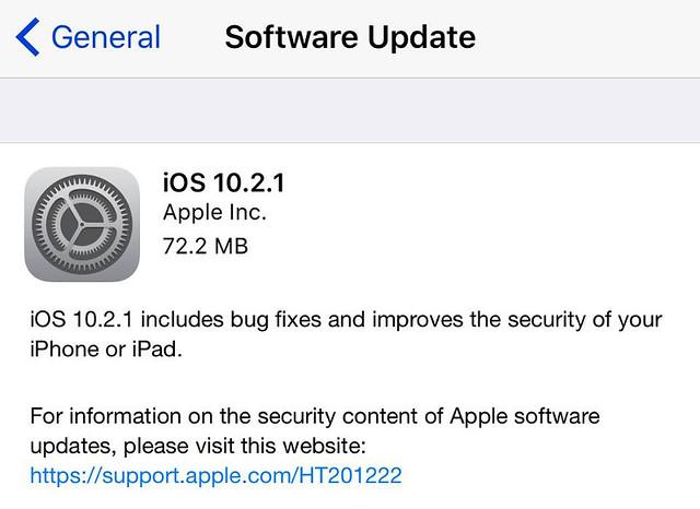 iOS 10.2.1.