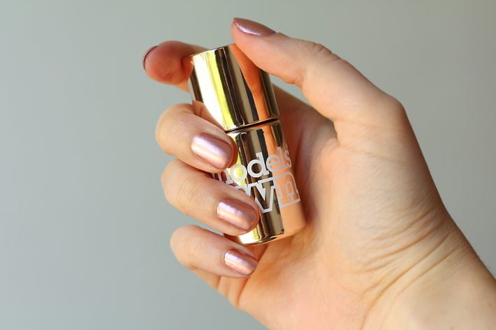 Beauty: Rose Gold manicure with Model's Own Chrome Rose
