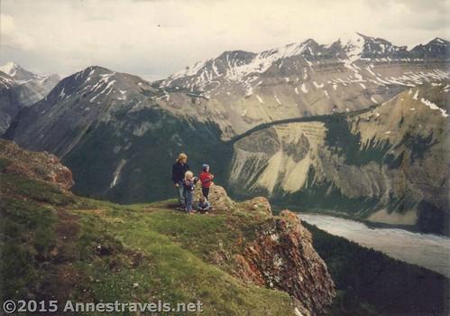 Overlooking the Saskatchewan Glacier on Parker Ridge in Banff National Park, Alberta in 1995