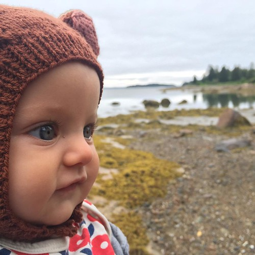 Cold beach, baby bear. Naskeag Point. #hattiegram #mainesummer | by elizajanecurtis