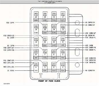 20381800392 on Chrysler Town And Country Fuse Diagram
