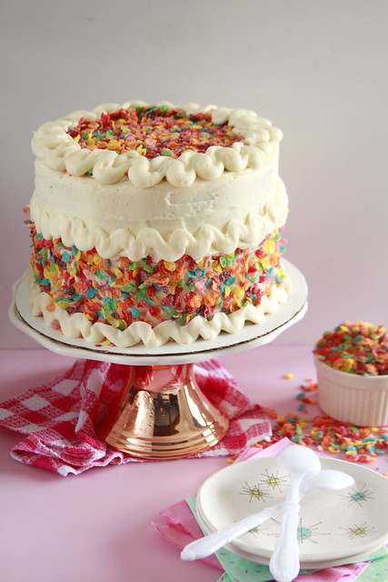 Fruity Pebbles Funfetti Cake