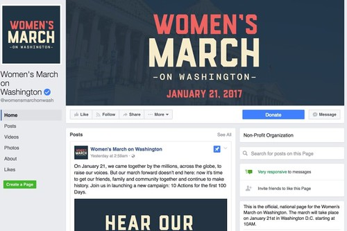 Women's March on Washington / Via Facebook: womensmarchonwash